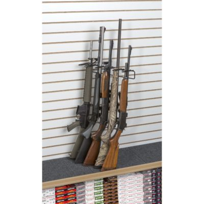 1' 5 Rifle Leans Right Display Slat Wall