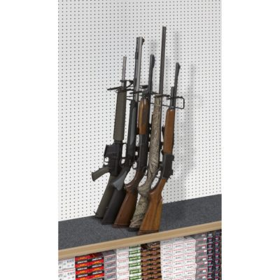 1' 5 Rifle Leans Right Display Peg Board