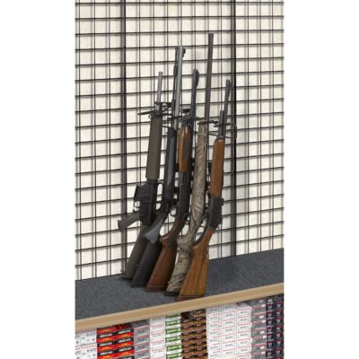 1' 5 Rifle Leans Right Display Grid Wall