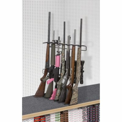 1' 7 Rifle Leans Right Display Peg Board