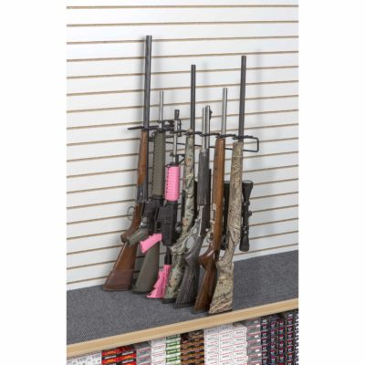 1' 7 Rifle Leans Right Display Slat Wall