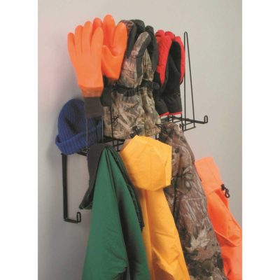 4 Pair Coat Glove and Hat Rack