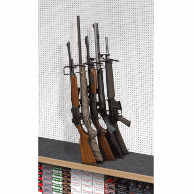 1' 6 Rifle Leans Left Display Peg Board