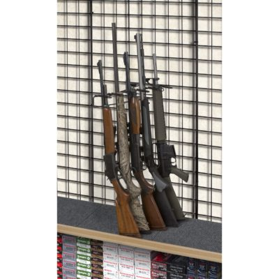 1' 5 Rifle Leans Left Display Grid Wall