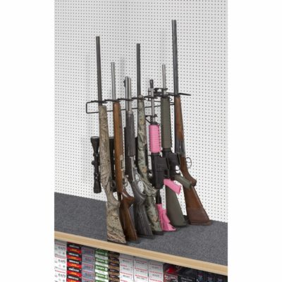 1' 7 Rifle Leans Left Display Peg Board
