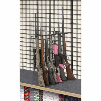 1' 7 Rifle Leans Left Display Grid Wall