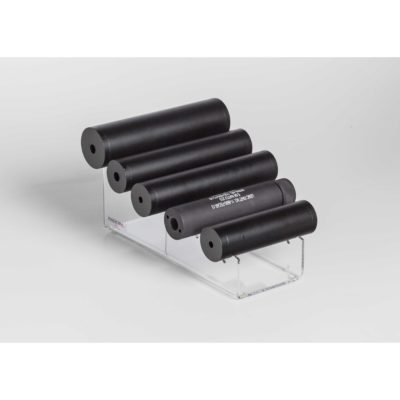 """5 Suppressor Waterfall Display (also holds 3 Scopes) 3.5 """"W x 8.5""""D x 3""""H"""