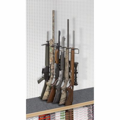 6601_p1' 6 Rifle Leans Right Display Peg Board