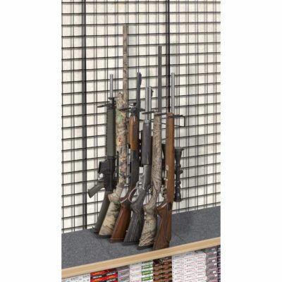 1' 6 Rifle Leans Right Display, Grid Wall