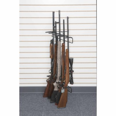 1' 5 Rifle Locking Leans Right Display, Slat Wall