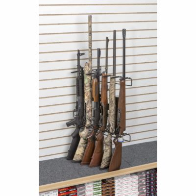 1' 6 Rifle Locking Leans Right Display Slat Wall