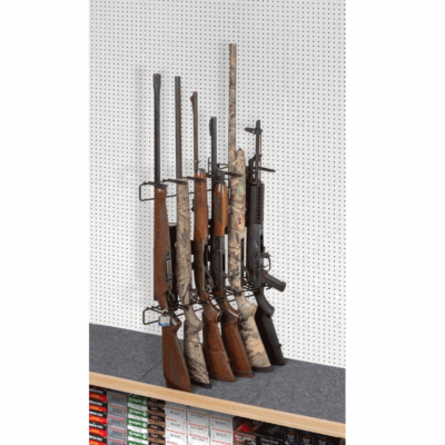 1' 6 Rifle Locking Leans Left Display Peg Board